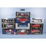 Konv. 10 Modellfahrzeuge dabei Sportwagen, Oldtimer und Pkw, Hersteller Bburago, Revell, ...