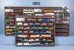 Konv. über 120 H0 Modellfahrzeuge, dabei Pkw, Lkw, Militärfahrzeuge, Oldtimer, ...