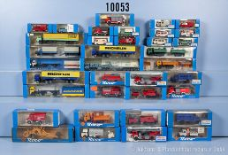 Konv. 35 Roco H0 Modellfahrzeuge, dabei  Lkw, Einsatzfahrzeuge, Sattelschlepper, Lkw, ...