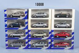 Konv. 12 Minichamps Volvo Modellfahrzeuge dabei V40, V70, S40, C70 usw., Metallausf., M ...