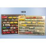 Konv. 61 H0 Modellfahrzeuge, dabei Lkw, Pkw, Einsatzfahrzeuge, Container-Lkw usw., ...