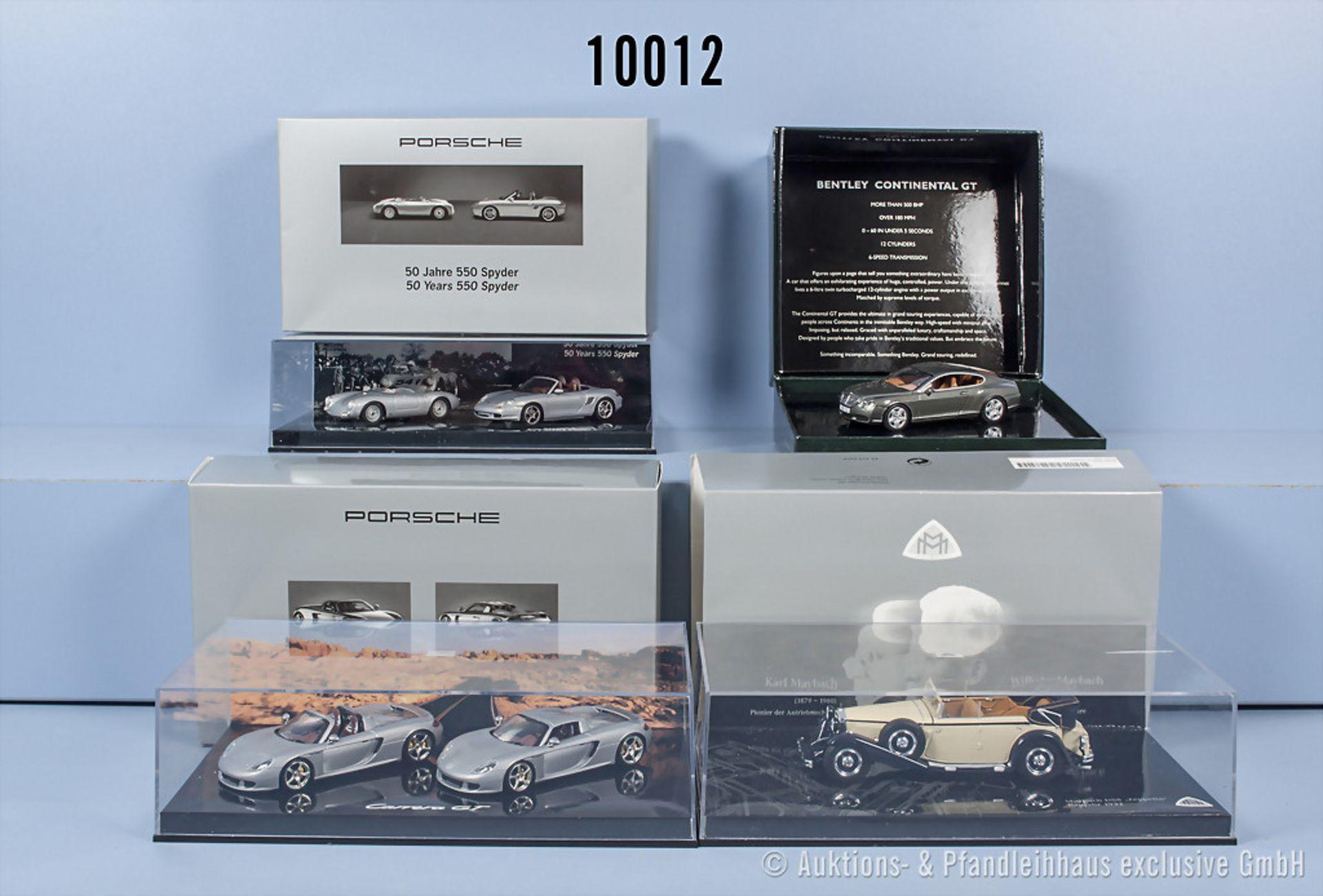 Konv. 4 Minichamps Setpackungen für Modellfahrzeuge mit insgesamt 6 Fahrzeugen dabei ...
