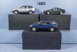 Konv. 3 Kyosho BMW Modellfahrzeuge dabei X5 4.4i, X5 3.0d und 328 ci, Metallausf., M ...