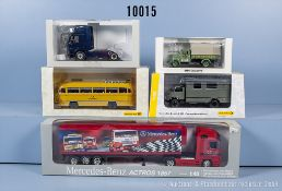 Konv. 5 Modellfahrzeuge dabei Zugmaschine, Lkw, Bus usw., Hersteller Premium Classixxs, ...