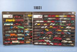 Konv. über 190 H0 Modellfahrzeuge, dabei Pkw, LKw, Oldtimer usw., teilweise versch. ...