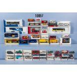 Konv. 50 H0 Modellfahrzeuge, dabei Pkw, Omnibusse, Einsatzfahrzeuge, Zugmaschine usw., ...