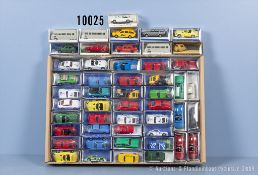 Konv. 50 H0 Modellfahrzeuge dabei überwiegend Sportwagen, Hersteller überwiegend Euro ...
