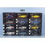 Konv. 12 Minichamps Modellfahrzeuge dabei McLaren, Porsche, Aston Martin und Audi, ...