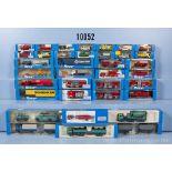 Konv. 35 Roco H0 Modellfahrzeuge, dabei  Lkw, Einsatzfahrzeuge, Sattelschlepper, Jeeps, ...