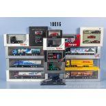 Konv. 19 H0 Modellfahrzeuge dabei Lkw, Zugmaschinen, Busse, Pkw usw., Hersteller ...