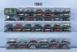 Konv. 46 Herpa H0 Modellfahrzeuge, dabei Pkw, Zugmaschinen, Limousinen usw., sehr guter ...