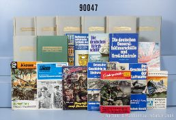 Konv. militärische Romanhefte und Taschenbücher des Erich Pabel Verlages, u. a. 3 ...