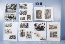 """umfangreiches Fotokonvolut, 2 Hängeordner """"Deutsche Generale 2. Weltkrieg"""" und ..."""