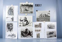 """umfangreiches Fotokonvolut, 3 Hängeordner """"Britische Soldaten"""", """"Sowjetische Soldaten"""" ..."""