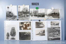 """umfangreiches Fotokonvolut, 3 Hängeordner """"Segler"""", """"Ostpreußen 45 - Verladung auf ..."""