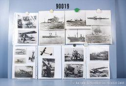 """umfangreiches Fotokonvolut, 3 Hängeordner """"Alliierte. Luftstreitkräfte 1. WK"""", """"Deutsche ..."""