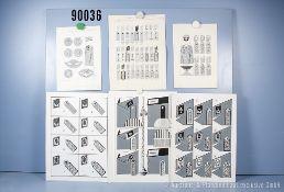 Konv. 13 originale schwarz/weiß Zeichnungen zum Thema Uniformierung und Effekten der ...