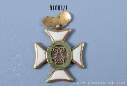 Unbekanntes Ordenskreuz eines Barockordens 18. Jahrhundert, Gold emailliert, ...