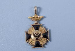 Freie Reichstadt Frankfurt, Ordenskreuz von 1804 der Gesellschaft Frauenstein, Gold ...