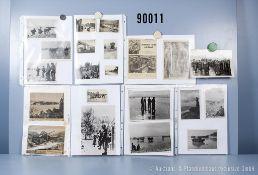 """umfangreiches Fotokonvolut, 4 Hängeordner """"Russland Zivilisten und Landschaften"""", ..."""