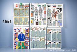 Konv. 12 originale überwiegend farbige Zeichnungen zum Thema Uniformierung und Effekten ...