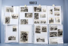 """umfangreiches Fotokonvolut, 2 Hängeordner """"Russlandfeldzug"""" und """"Frankreich"""", teilweise ..."""