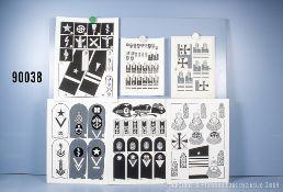 Konv. 10 originale schwarz/weiß Zeichnungen zum Thema Uniformierung und Effekten der ...