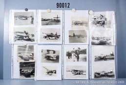 umfangreiches Fotokonvolut, 5 Hängeordner mit versch. Flugzeugtypen, teilweise ...