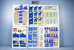 Konv. 19 originale farbige Zeichnungen zum Thema Uniformierung und Effekten der ...