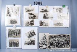 """umfangreiches Fotokonvolut, 3 Hängeordner """"Dt. Marine 2. Weltkrieg"""", """"Marine allgemein"""" ..."""