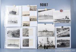 """umfangreiches Fotokonvolut, 3 Hängeordner """"Ausl. Marine Japan und Russland"""", ..."""