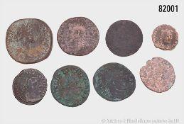 Römische Kaiserzeit, Konv. 10 Bronzemünzen, dabei 3 x Follis des Maxentius, Constantin ...