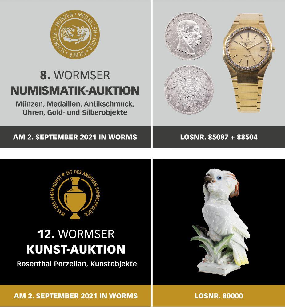 8. Wormser Numismatik / 12. Wormser Kunst Auktion