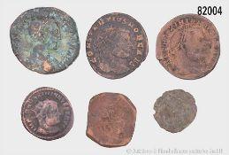 Konv. 15 römische Münzen, dabei Alexander Severus Sesterz, Valerianus Antoninian, ...