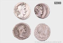 Konv. Römische Republik, 2 Denare (C. Fabius C. f. Hadrianus, 102 v. Chr. und L. Marcius ...
