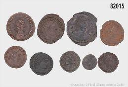 Römische Kaiserzeit, Konv. 16 spätrömische Münzen, dabei Urbs Roma, Contantin I. etc., ...