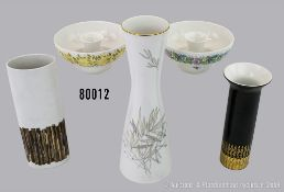 Konv. 5 Rosenthal Porzellan Objekte, dabei 2 Kerzenleuchter, Serie Romanze, versch. ...
