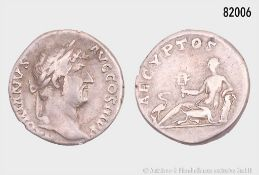 Römische Kaiserzeit, Hadrian (117-139), Denar, ca. 134-138, Rom, Rs. AEGYPTOS, ...