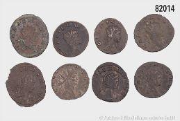 Römische Kaiserzeit, Gallienus (253-268), Partie mit 15 Antoninianen aus der Tier- bzw. ...