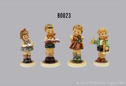 "Konv. 4 Goebel Porzellan Hummel Figuren, dabei 2087/B ""Student"", Club 2000/2001, 2103/A ..."