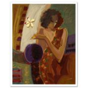"""""""Exotic Flower"""" Limited Edition Serigraph on Canvas by Sabzi, Numbered and Hand"""
