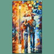 """Leonid Afremov (1955-2019) """"Warmth"""" Limited Edition Giclee on Canvas, Numbered a"""