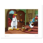 """""""Foghorn Serving Henry"""" Numbered Limited Edition Giclee with Certificate of Auth"""