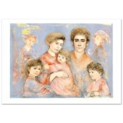 """""""Michael's Family"""" Limited Edition Lithograph (36"""" x 26"""") by Edna Hibel (1917-20"""