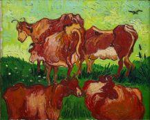 Van Gogh - Les Vaches By Van Gogh