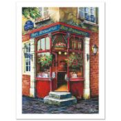 """Anatoly Metlan, """"Bar Brasserie"""" Limited Edition Serigraph, Numbered and Hand Sig"""