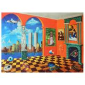 """Alexander Astahov, """"New York View"""" Hand Signed Limited Edition Giclee on Canvas"""