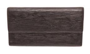 Louis Vuitton Black Epi Leather International Wallet