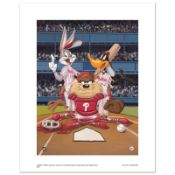 """At the Plate (Phillies)"" Numbered Limited Edition Giclee from Warner Bros. with"