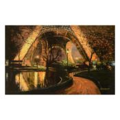 """Howard Behrens (1933-2014), """"Twilight At The Eiffel Tower"""" Limited Edition on Ca"""